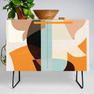Society6 Modern Abstraction / Desert Credenza by matise