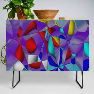 Society6 Crackled -2- Credenza by issabild