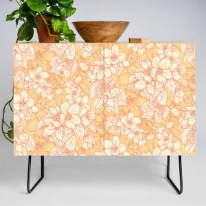 Society6 Appleflowers Credenza by marieodette