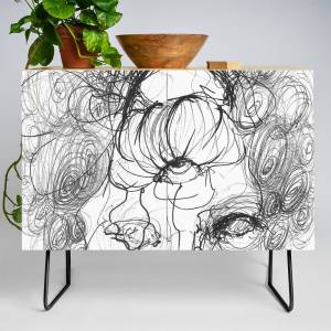 Society6 Crazy Haircut Credenza by dianadimart