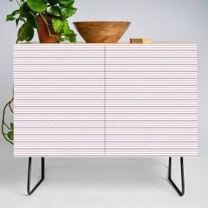 Society6 Pink Lines Credenza by feanna_art