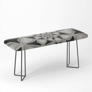 Society6 Black and White Spiral 04 Bench by nicfullerart