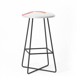 Society6 Water Buffalo Skull – Pink Ombre Bar Stool by catcoq