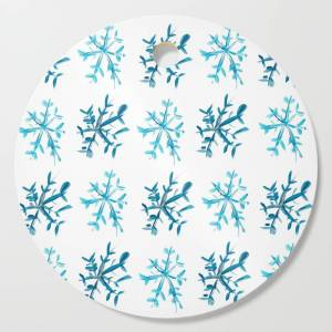 Society6 Simply Snowflakes Cutting Board by rachelelizabethdesign