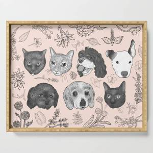 Society6 Personal Project Serving Tray by nesdraws