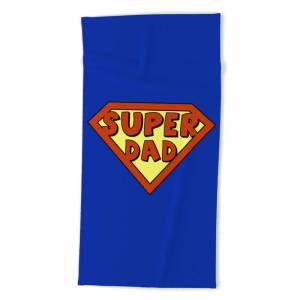 Society6 Funny Super Dad Badge Beach Towel by pixxart