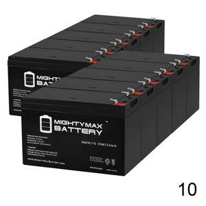 Mightymaxbattery 12V 7AH BATTERY,F6C127XBAT,BU3DCOOO-12V,F6C127XBATT-ATT - 10 Pack
