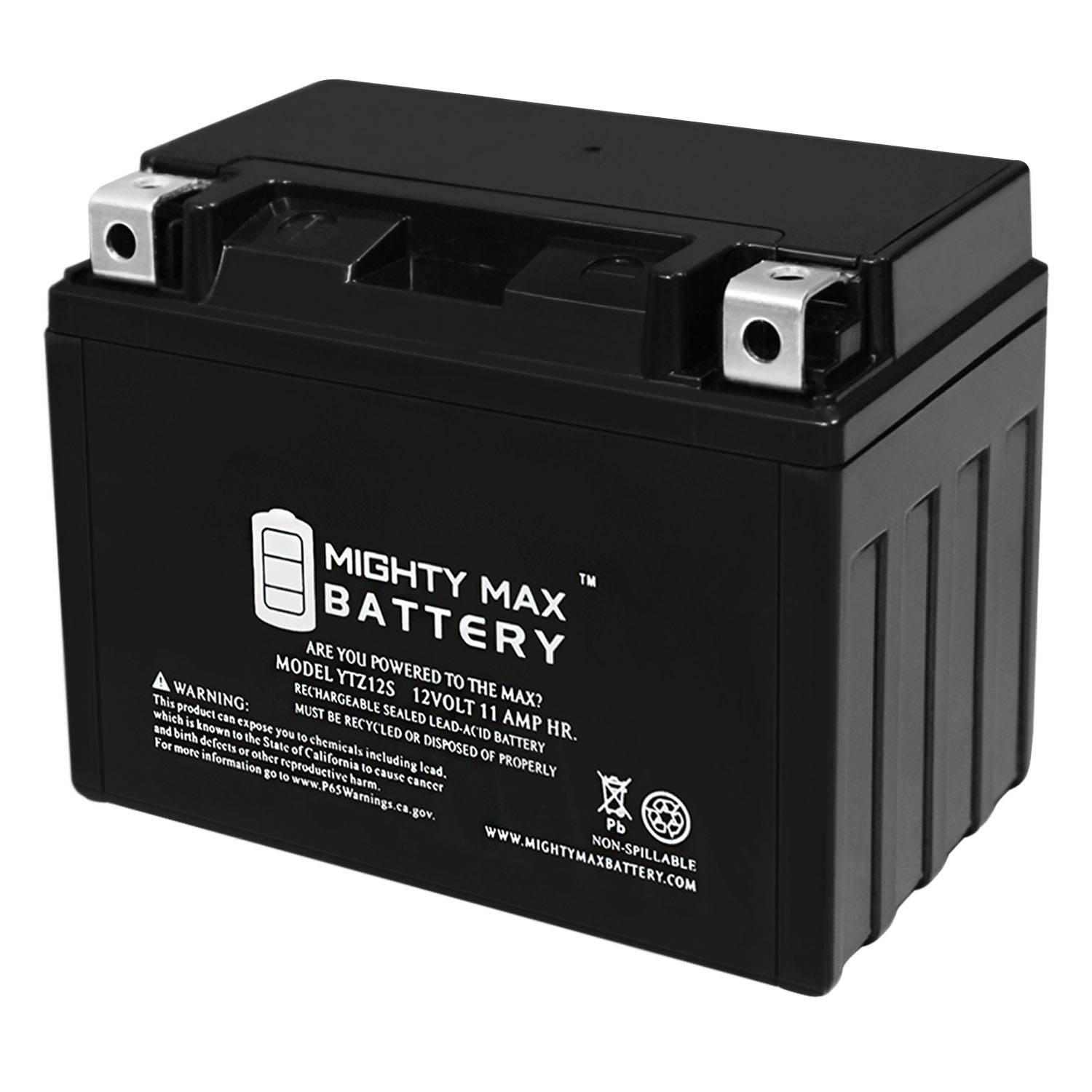 Mightymaxbattery YTZ12S 12V 11Ah Battery for Motorcycle Dirt Bike ATV Scooter