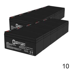 Mightymaxbattery 12V 3AH SLA Replacement Battery for SLAA12-3.3F - 10 Pack