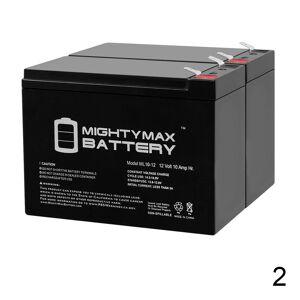 Mightymaxbattery ML10-12 – 12V 10AH Schwinn S500 FS, S-500 FS Scooter Battery - 2 Pack