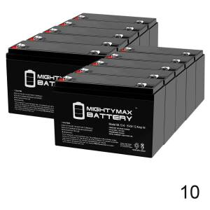 Mightymaxbattery 6V 12AH F2 SLA Replacement Battery for Toyo 3FM10 - 10 Pack