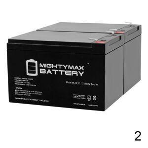 Mightymaxbattery 12V 12Ah F2 Razor E500S, E 500S 13114099 Scooter Battery - 2 Pack
