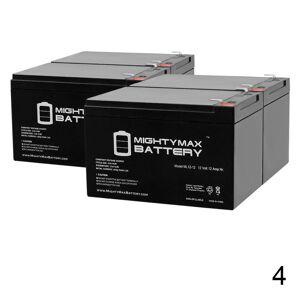 Mightymaxbattery 12V 12Ah F2 Razor E500S, E 500S 13114099 Scooter Battery - 4 Pack