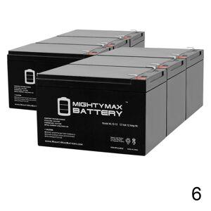 Mightymaxbattery 12V 12Ah F2 Razor E500S, E 500S 13114099 Scooter Battery - 6 Pack