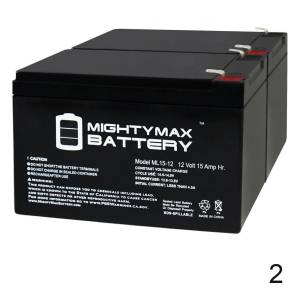 Mightymaxbattery ML15-12 12V 15AH F2 REPLACEMENT BATTERY RAZOR SCOOTER E500S - 2 Pack