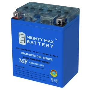 Mightymaxbattery YTX14AH 12V 12AH GEL Battery for Honda 600 CX650C Custom '83