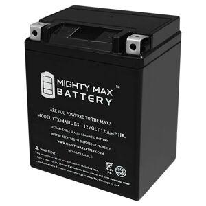 Mightymaxbattery YTX14AHL 12V 12Ah Battery for Kawasaki 600 KL600-B KLR 1985-1986