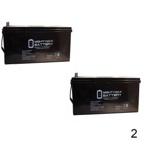 Mightymaxbattery 12V 200Ah 4D SLA AGM Battery Replacement for Sail Boats - 2 Pack