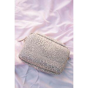 Caroline Hill Millie Crossbody Bag Tan Leopard Metallic