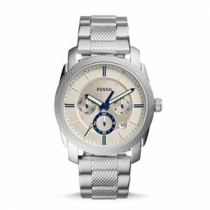 Fossil Machine Chronograph Stainless Steel Watch Silver   Fossil®