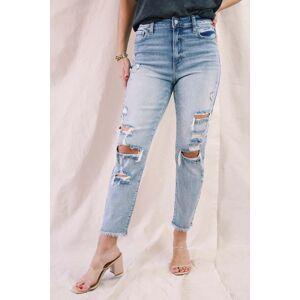 Eunina Tobi Super High Rise Cropped Mom Jeans Eternal Youth