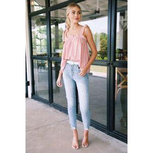 Eunina Kendall Ultra High Rise Skinny Jean Small Talk Light