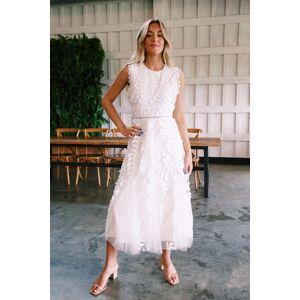 Just Me Allison Lace Dress Ivory