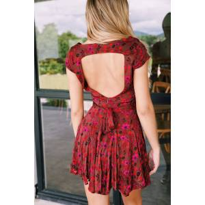 free people It Takes Two Wrap Dress Plum Combo   Free People