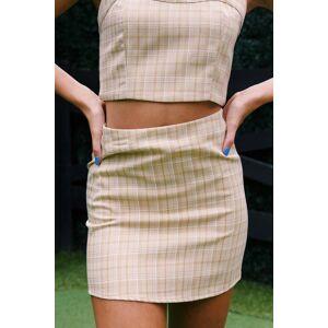 Crescent Everett Plaid Mini Skirt Sand