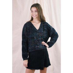 Entro Vera V-Neck Sweater Marled Black