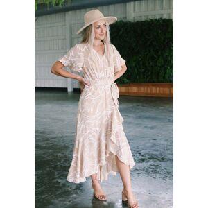 Very J Summer Feeling Maxi Dress Taupe