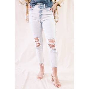 Eunina Tobi Super High Rise Mom Jeans Crop Playing for Keep