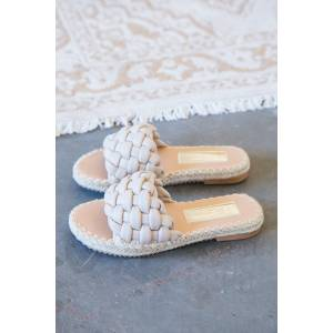 3B Shoes Ccocci Exam Wide Braided Sandal Taupe