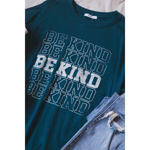 Tres Bien Be Kind Sweatshirt Teal
