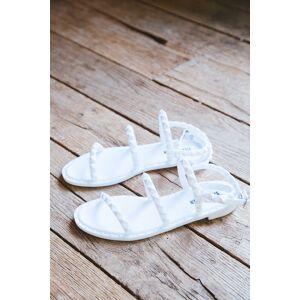 Steve Madden Travel-J Studded Jelly Sandals White   Steve Madden