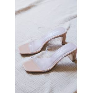 Chinese Laundry Yanti Vinyl Clear Strap Heel Clear   Chinese Laundry