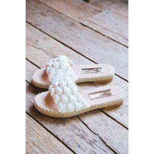 3B Shoes Ccocci Exam Wide Braided Sandal White
