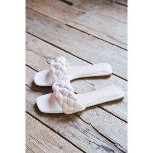 GM Global Elle Braided Slide Sandal Ivory
