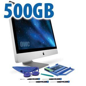 "Other World Computing DIY Kit for 2009 - 2011 27"" iMac optical bay: 500GB OWC Mercury Electra 3G SSD and OWC Data Doubler. OWCK27IM09OE500"