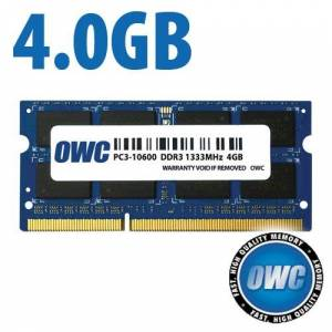 Other World Computing 4.0GB PC3-10600 DDR3 1333MHz SO-DIMM 204 Pin CL9 SO-DIMM Memory Module OWC1333DDR3S4GB