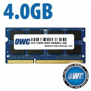 Other World Computing 4.0GB PC3-12800 DDR3L 1600MHz SO-DIMM 204 Pin CL11 SO-DIMM Memory Module OWC1600DDR3S4GB