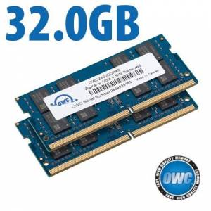 Other World Computing 32.0GB (2x 16GB) 2400MHz DDR4 PC4-19200 SO-DIMM 260 Pin CL17 Memory Upgrade Kit OWC2400DDR4S32P