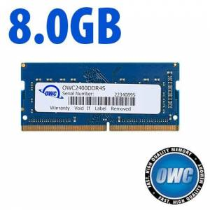 Other World Computing 8.0GB 2400MHz DDR4 PC4-19200 SO-DIMM 260 Pin CL17 Memory Module OWC2400DDR4S8GB