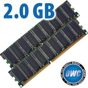 Other World Computing 2.0GB Apple Xserve G5 PC3200 DDR 184 Pin ECC Upgrade Kit (2x 1GB Modules) OWC3200DDR2GBPE