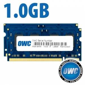Other World Computing 1.0GB OWC Kit (2 x 512MB) PC2-5300 DDR2 667MHz SO-DIMM 200 Pin Memory Upgrade Kit OWC53DR2SPAIR1G