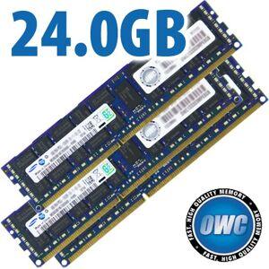 Other World Computing 24.0GB Mac Pro / Xserve 2009 Memory Matched Set (3x 8GB) PC-8500 1066MHz DDR3 ECC-Registered SDRAM M OWC85MP3S8M24GK