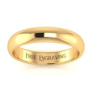SuperJeweler Yellow Gold (3.1 g) 4MM Heavy Ladies & Men's Wedding Band, Size 4.5, Free Engraving by SuperJeweler