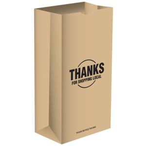 Ampac Mobile Holdings 274221 20 lbs Short Paper Bag - 500 Per Pack