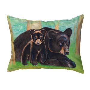 Betsy Drake KS219 11 x 14 in. Bear & Cub Small No-Cord Pillow