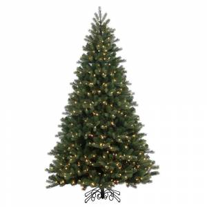 Drop Ship Baskets 9 ft. x 62 in. Noble Spruce Instant Shape Artificial Christmas Tree with 1000 Warm White LED Lights